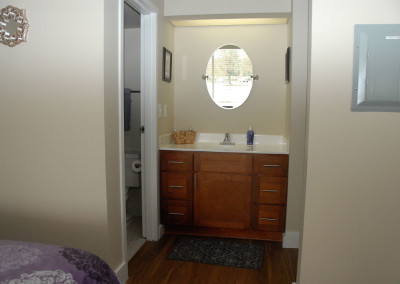 Bath and sink (closet across from bath)